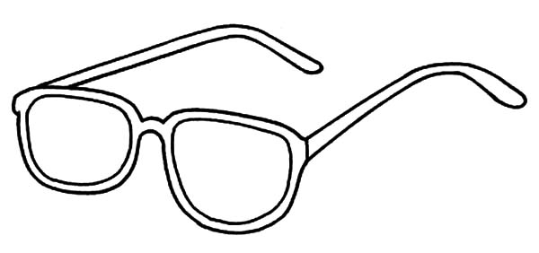 Eyeglass Coloring Pages Sketch Page
