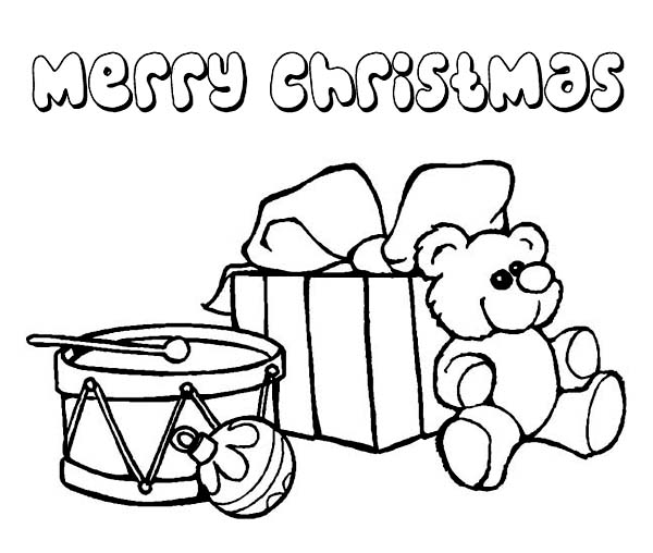 Christmas, : A Nice Christmas Presents Coloring Page