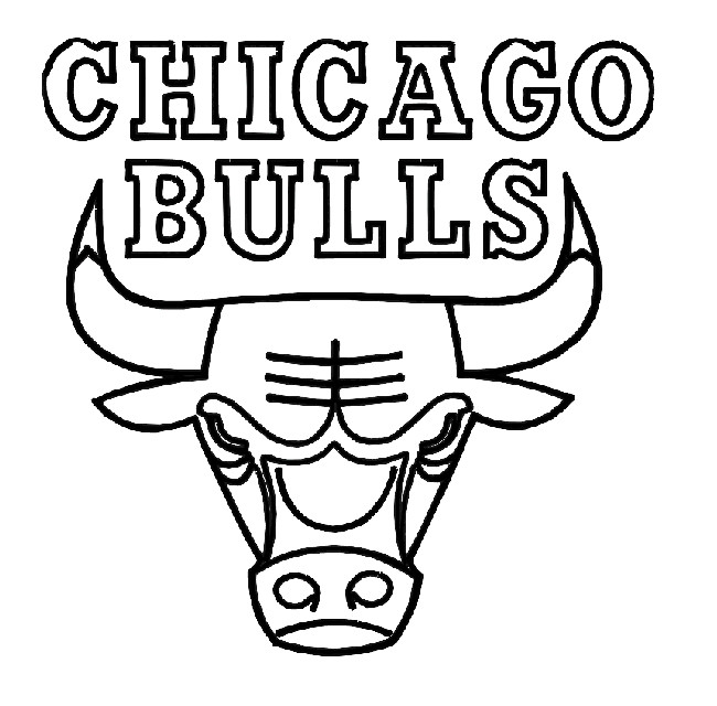 Basketball, : Chicago Bulls Logo Coloring Page
