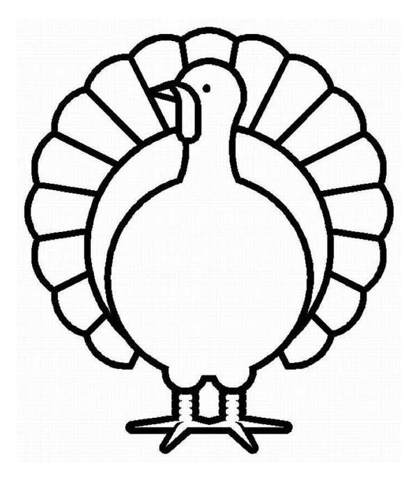 Thanksgiving Day, : Thanksgiving Day Turkey in Graphic Coloring Page