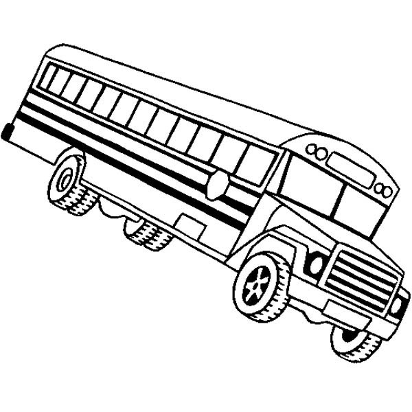 School Bus, : A Classic School Bus from United States School Coloring Page