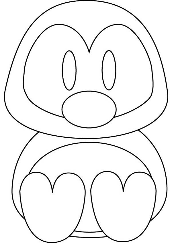Penguins, : A Very Lovely Penguin Doll Coloring Page