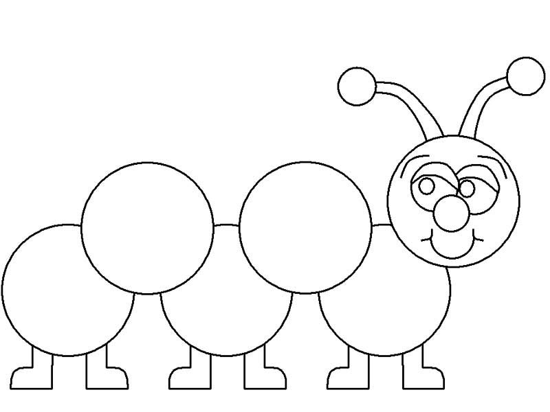 Caterpillars, : Learn How to Draw a Caterpillar Coloring Page