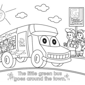 around town coloring pages   A Packed School Bus For Field Trip Coloring Page : Kids ...