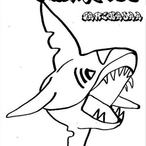 A Drawing Of Hammerhead Shark From The Top Coloring Page ...