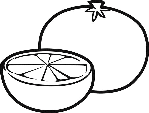 Fruits and Vegetables, : Slice of Fresh Lemonlime Coloring Page
