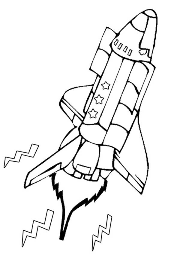 Space Shuttle, : Space Shuttle Open the Cargo Doors Coloring Page