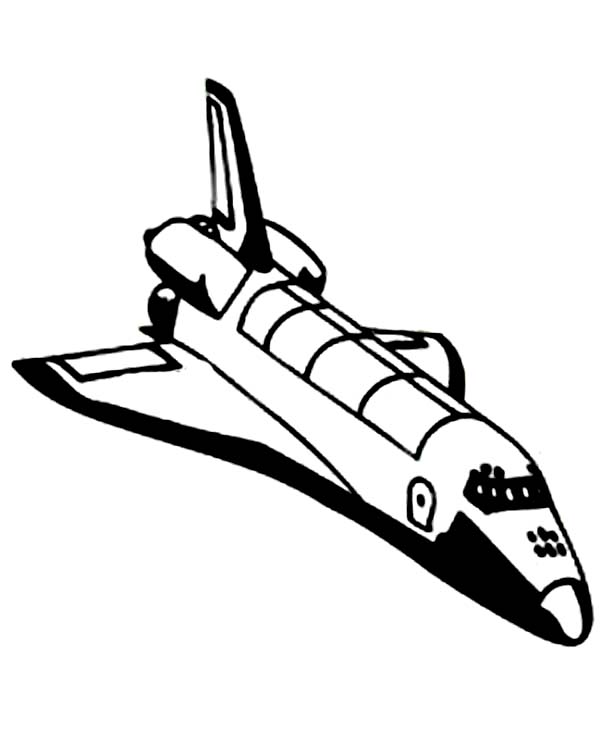 Space Shuttle, : Space Shuttle Without External Tank Coloring Page
