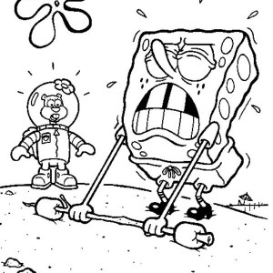 coloring pages spongebob halloween full | SpongeBob Says Happy Halloween Coloring Page : Kids Play Color