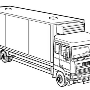 box truck coloring pages - photo#26