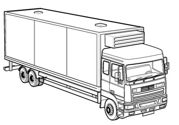 Trucks, : box-truck-coloring-page.jpg