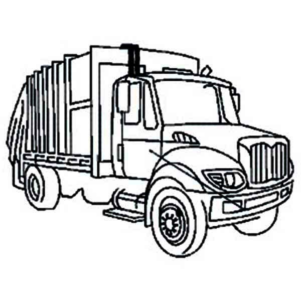Trucks, : city-garbage-truck-on-dump-truck-coloring-page.jpg