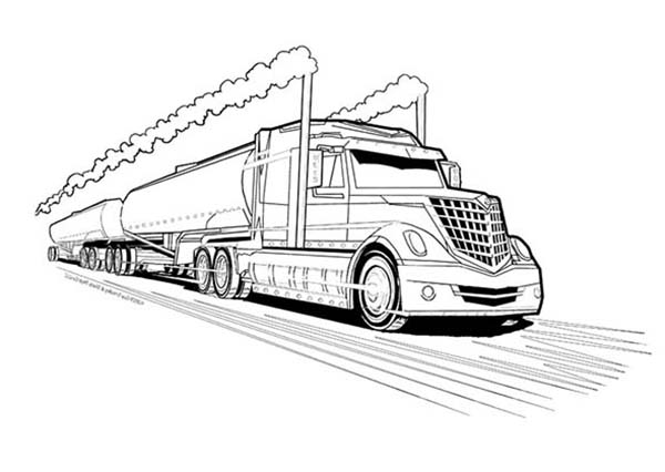 Trucks, : double-tanker-trailer-truck-coloring-page.jpg