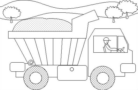 Trucks, : dump-truck-kids-coloring-page.jpg