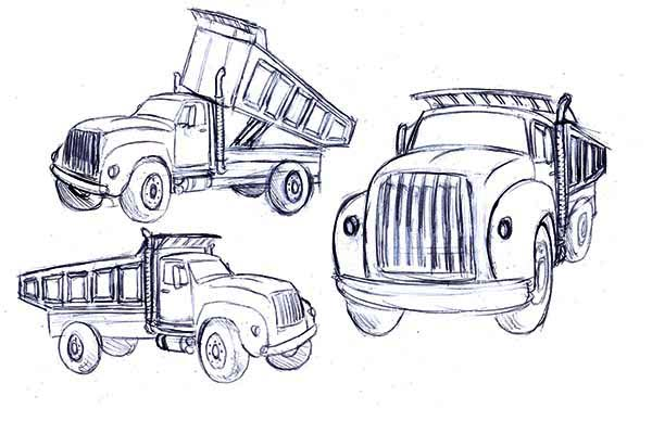 Trucks, : dump-truck-sketch-coloring-page.jpg
