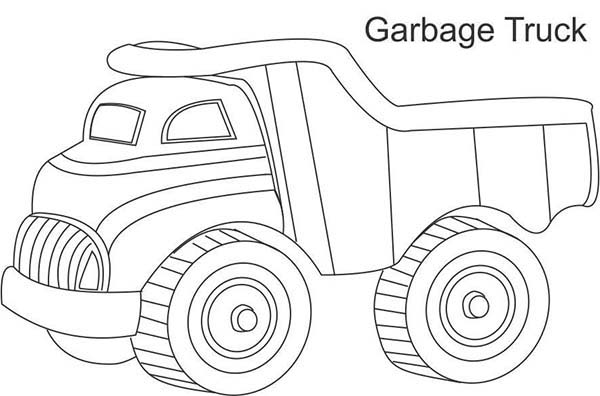 Trucks, : garbage-truck-toy-picture-to-color.jpg