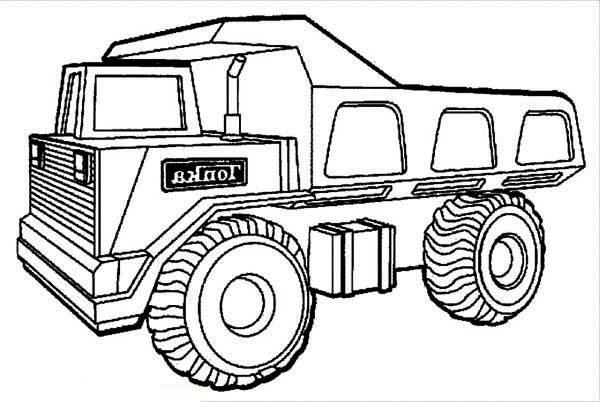 Huge Tonka Dump Truck Coloring Page : Kids Play Color