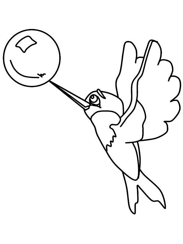 Hummingbirds, : hummingbird-catch-a-bubble-coloring-page.jpg