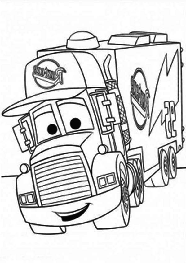 Trucks, : mack-of-car-the-movie-pulling-trailer-coloring-page.jpg