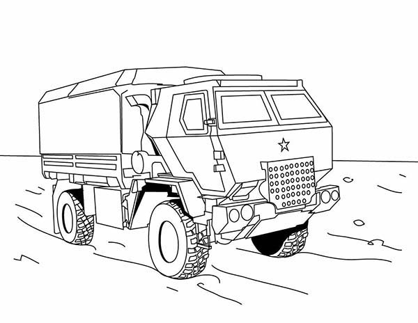 Trucks, : military-truck-on-dump-truck-coloring-page.jpg