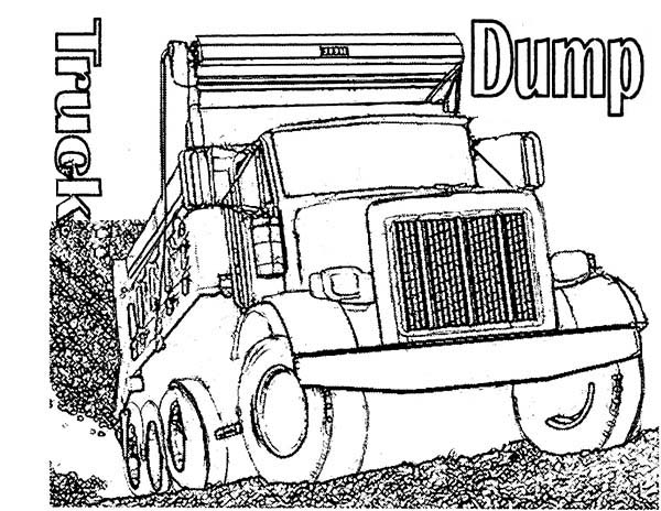 Trucks, : realistic-dump-truck-coloring-page-for-kids.jpg