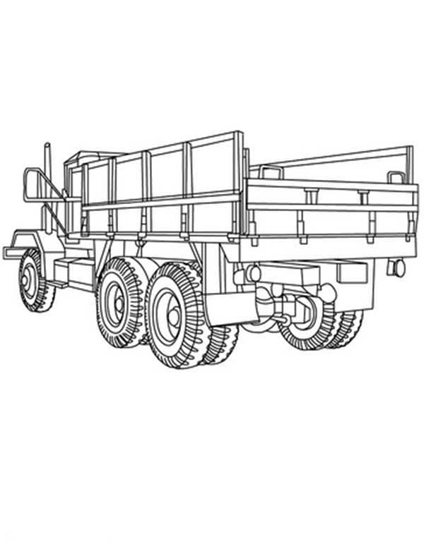 Trucks, : rear-view-of-dump-truck-coloring-page.jpg