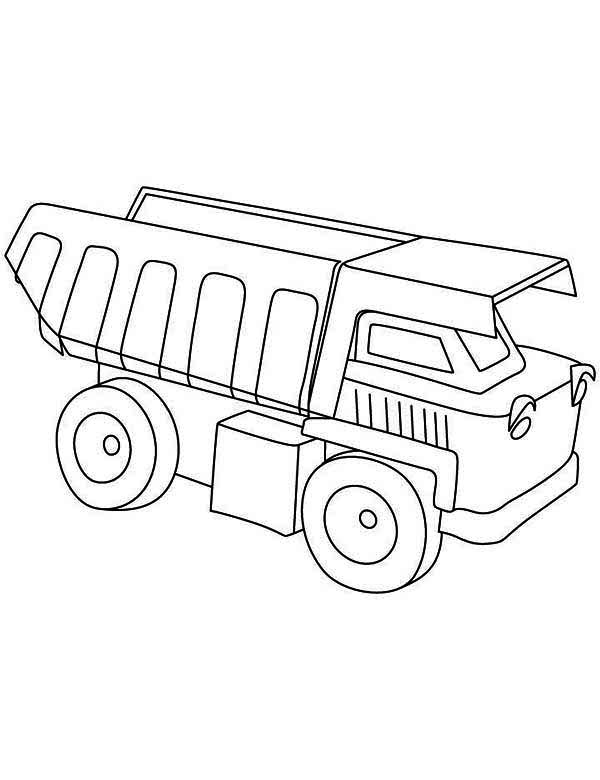 Trucks, : simple-dump-truck-line-art-coloring-page.jpg