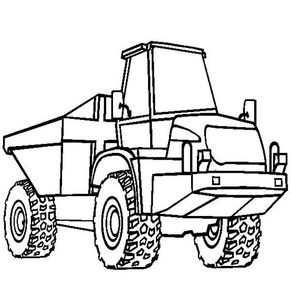 Trucks, : single-axle-semi-trailer-dump-truck-coloring-page.jpg