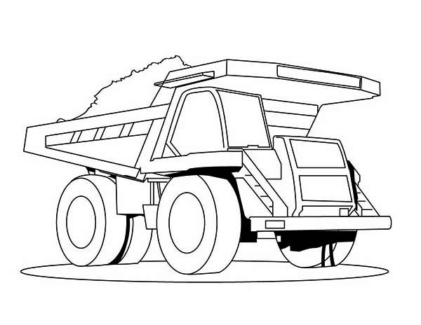 Trucks, : super-dump-truck-carrying-tons-of-coal-coloring-page.jpg