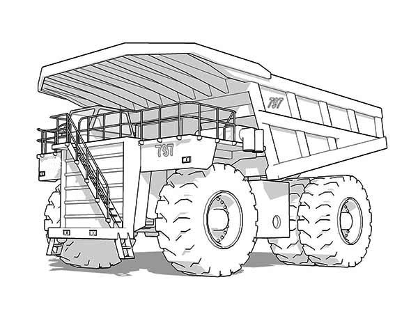Trucks, : super-dump-truck-on-mining-site-coloring-page.jpg