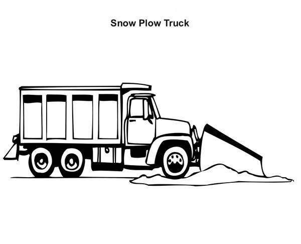 Trucks, : working-snow-plow-truck-coloring-page.jpg