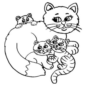 A Funny Drawing Of Fat Kitty Cat Coloring Page : Kids Play ...