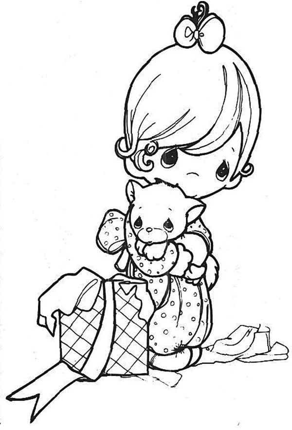Precious Moments, : Always in My Heart Precious Moments Coloring Page