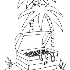 treasure chest lock coloring pages - photo#12