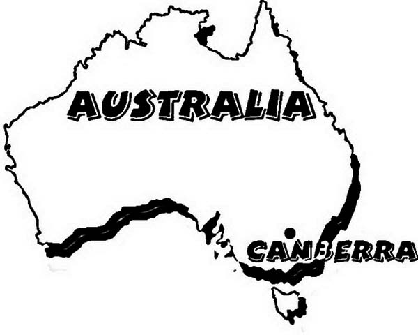 Australia Day, : Australia and the City of Canberra is Ready for Australia Day Coloring Page