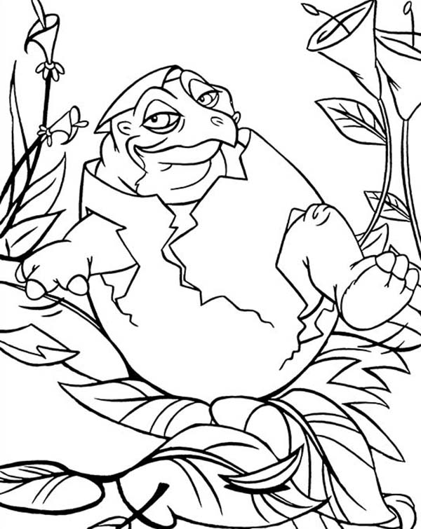 - Baby Spike Land Before Time Coloring Page : Kids Play Color