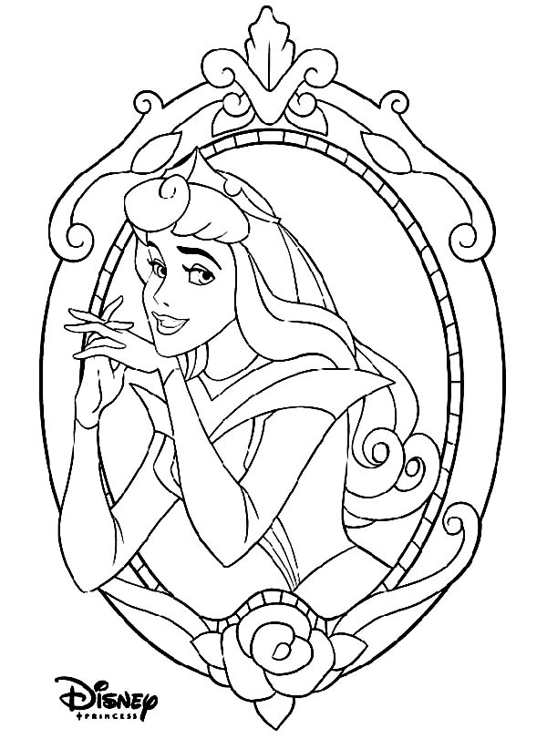 Disney Princesses, : Beautiful Princess Aurora on Disney Princesses Coloring Page