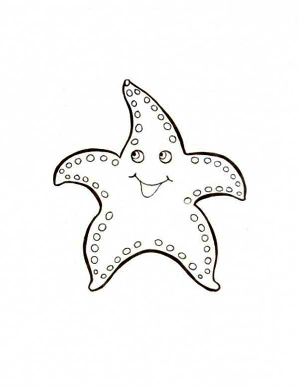 Starfish, : Big Starfish Coloring Page