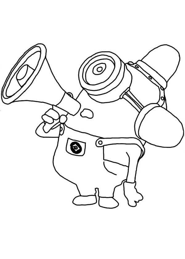 Minion, : Carl The Minion Coloring Page
