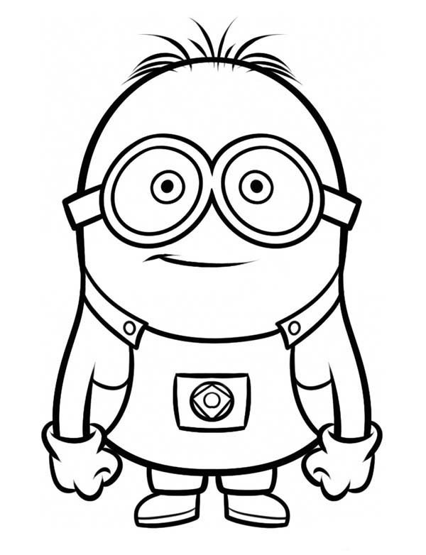Minion, : Dave The Minion Coloring Page
