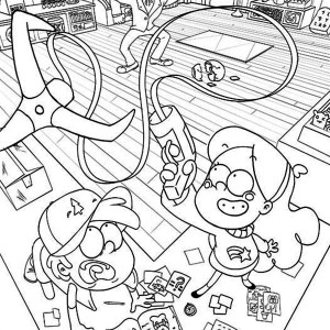 mabel and dipper coloring pages - photo#36