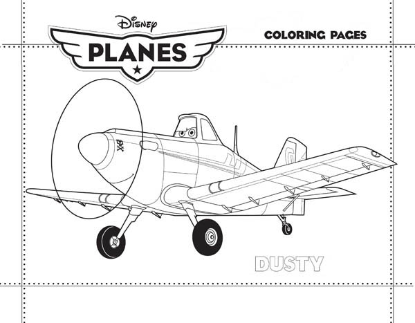 Disney Planes, : Dusty Crophopper from Disney Planes Coloring Page