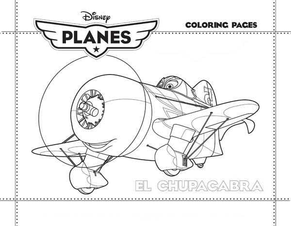 Disney Planes, : El Chupacabra, the Pride of Mexico in Disney Planes Coloring Page