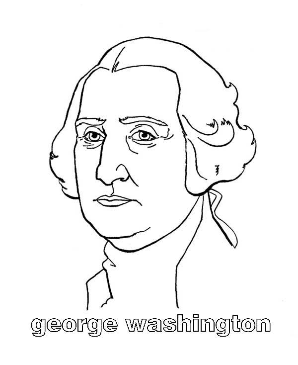 George Washington, : George Washington was Born in Westmoreland County Virginia Coloring Page