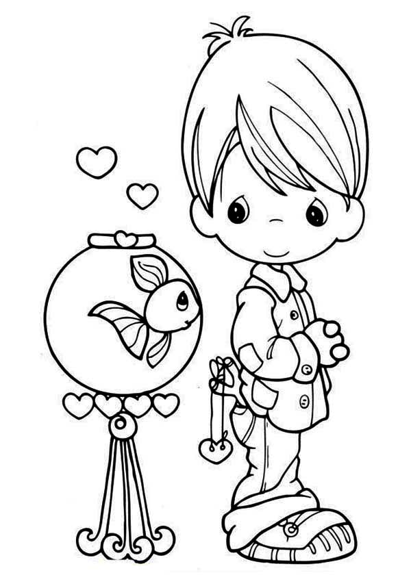 Precious Moments, : I Would Be Lost Without You Precious Moments Coloring Page