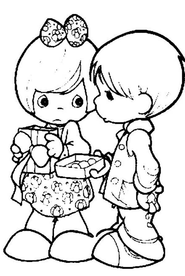 Precious Moments, : I Would Share My Life Precious Moments Coloring Page