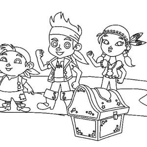 izzy coloring pages | Jake Izzy And Chubby Found An Old Dive Helmet Coloring ...