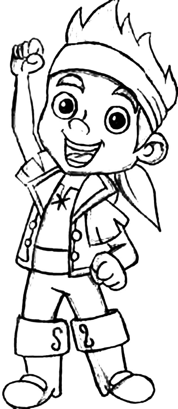 Jake and the Neverland Pirates, : Jake the Leader of  Never Land Pirates Coloring Page