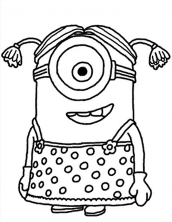Minion, : Little Girl The Minion Coloring Page