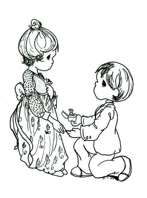 Precious Moments, : Love of My Life Precious Moments Coloring Page